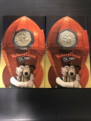 2019 Strike Your Own Wallace and Gromit UK 50p Fifty Pence SYO