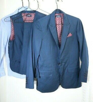NEXT Boys Navy Blue 4 Piece Tailored Suit Wedding Prom Age 10 Years Small/Petite