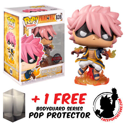 Funko Pop Fairy Tail Etherious Natsu Draneel Exclusive + Free Pop Protector