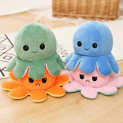DOUBLE-SIDED FLIP REVERSIBLE Octopus Plush Toy Marine Life Stuffed Animals  uk - £4.11 | PicClick UK