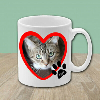 Personalised Cat Coffee Mug Novelty Photo Gift Custom Cup Name Text Image Logo