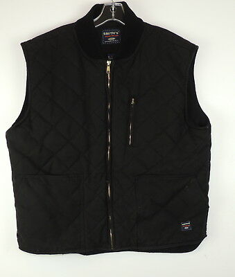 Smith's Workwear Mens XL Outdoor Vest Diamond Quilted Heavy Weight Warm Zip Up