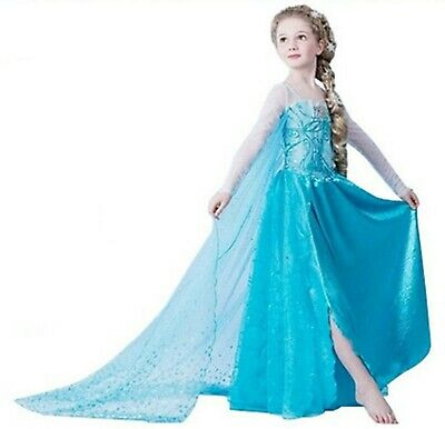 ELSA /& ANNA® Girls Fancy Dress Snow Queen Princess Dress Halloween Costume RAP01
