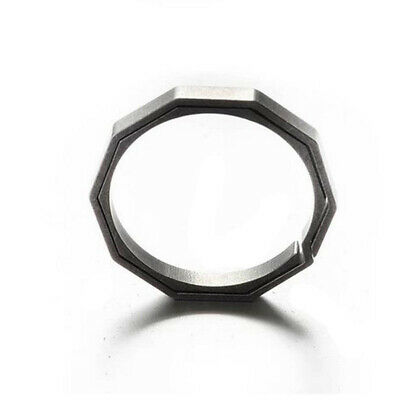 Split Ring Flat Surface Key Rings Double Loop Keychain Titanium Alloy Quickdraw