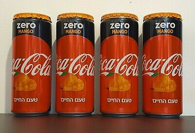 bottom opened 2020 Israel 330 ml empty can Coca Cola Mango  New edition