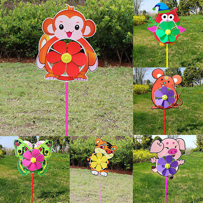 Butterfly Flower Windmill Colourful Wind Spinner Garden Decoration Yard ii C5A1