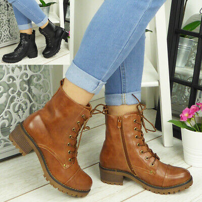 Details about  /Cotswold Womens Minety High Top Lace Up Ankle Boot Brown Size UK 3 EU 36