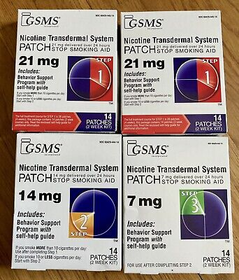 Complete Program GSMS Stop  Aid  Transdermal Patches Steps 1-3