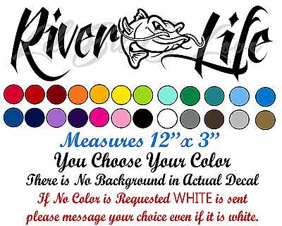 Download Children S Bedroom Girl Decor Decals Stickers Vinyl Art Details About River Life Decal With Striped Bass In Center Sticker Striper Fishing Fisherman Home Garden