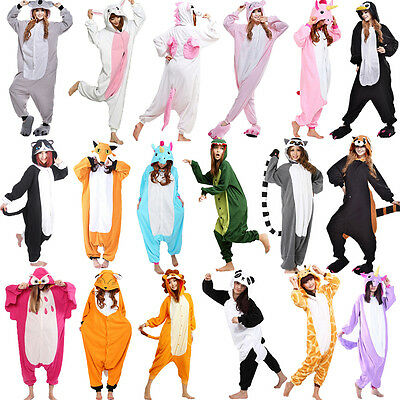 Unisex Adult Pajamas Kigurumi Cosplay Costume Halloween Animal Sleepwear Suit