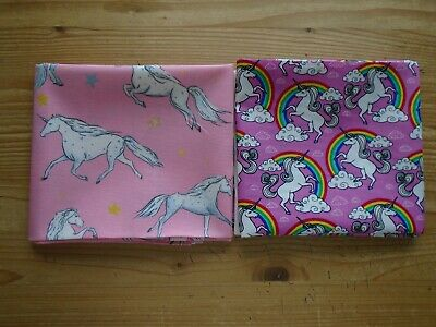 Fat Quarter Bundle of 4 Fabrics Jelly Bears Unicorns Sausage Dog Animals Fabric