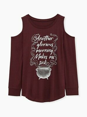 Torrid Hocus Pocus Glorious Morning Cold Shoulder Sweater Style NEW 00X