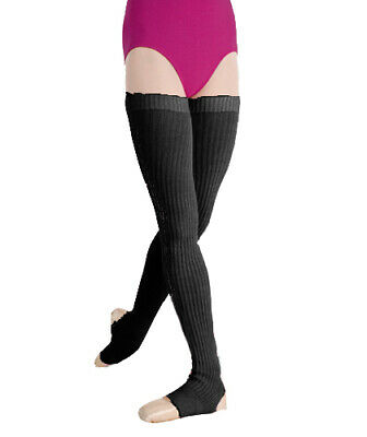 "Body Wrappers 36"" Black Stirrup Leg Warmers"