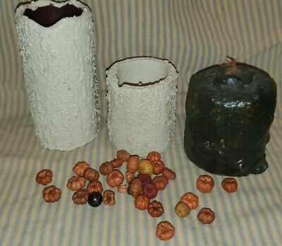 10 Amish Apple Strudel PRiMiTivE GRuNgY handmade Bowl Filler Nugget candles