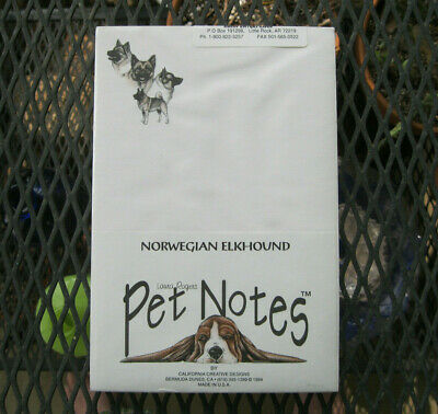 Vintage Norwegian Elkhound Note Pads by Pet Notes 1994