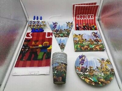 Roblox Balloons,Tablecloth,Cups,Napkins Banner/Flag Plates All Party Supplies