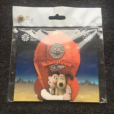 2019 UK 50p Brilliant Uncirculated Wallace & Gromit Royal Mint Coin