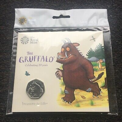 2019 UK 50p Brilliant Uncirculated The Gruffalo® And Mouse Royal Mint Coin