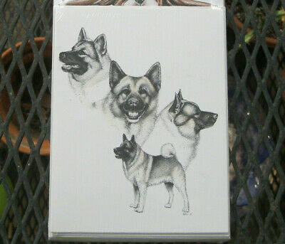 Vintage Norwegian Elkhound Note Cards by Pet Notes 1994
