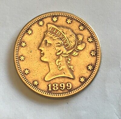 1899 $10 Ten Dollar Gold Liberty Eagle. Rare S.