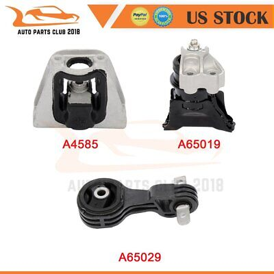 A65029 K2950 Fits 2006-2011 Honda Civic Hybrid 1.3L AUTO Engine Motor /& Trans Mount Set A4585 A65019