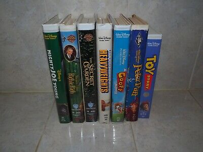 disney vhs bundle, Toy Story, Peter Pan, Goofy, Richie Rich, Heavy Weights