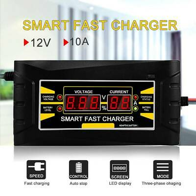 Automatic Intelligent Car Battery Charger 12V 10 Amp Fast/Trickle/Pulse Modes