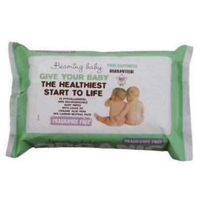 Fragrance Free Organic Baby Wipes - 72 pack
