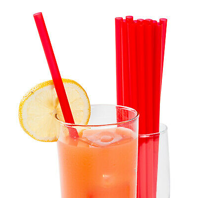 """9"""" Giant Red Unwrapped Straws, Case of 7200"""
