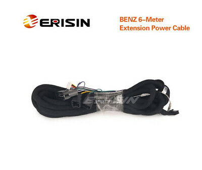 Erisin LMBENZ-6M Extension Radio /& Power Cable for Benz ES3080E//ES3069C
