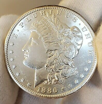 1886 s UNC DETAILS JAW DROPPING KEY DATE INCREDIBLE!! MORGAN SILVER DOLLAR #A97