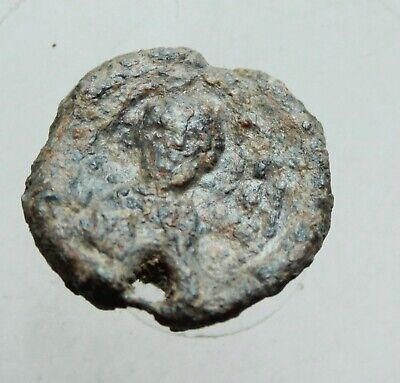 Ancient Byzantine Lead Seal D=19mm 6g. Christ