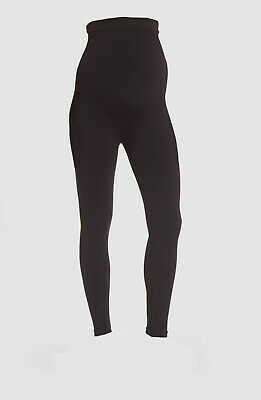 $239 Spanx Women Black Stretch High Rise Casual Maternity Leggings Pants Size L