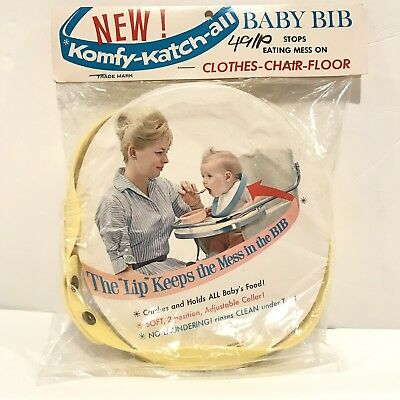 Vintage 'New' Komfy-Katch-All Baby Childrens Bib New In Package Classic Child