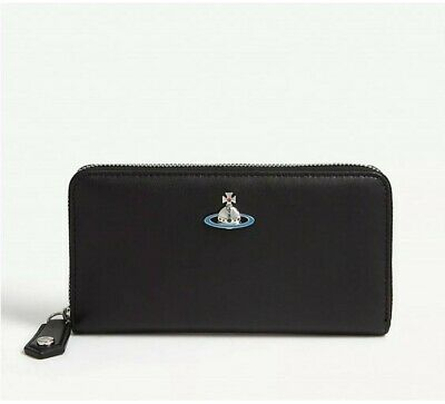 Vivienne Westwood Orb Logo Leather Continental Wallet Purse bnwt Classic Zip
