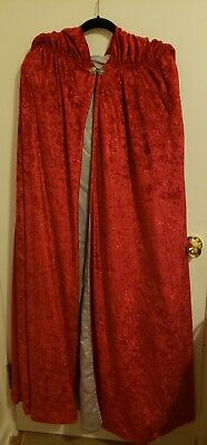 High Quality Handmade Cloak - Red/Gray Authentic LARP Costume Halloween