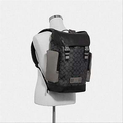 Brand New COACH Ranger Men's Backpack in Colorblock Signature Canva F79901