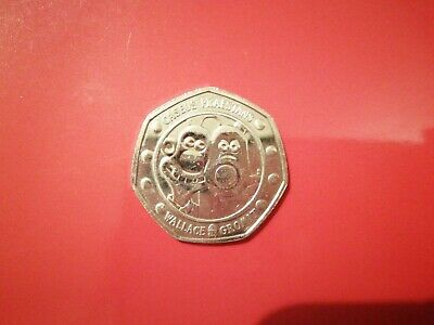 Circulated 2019 50p COIN UK WALLACE & GROMIT FIFTY PENCE. Rare.