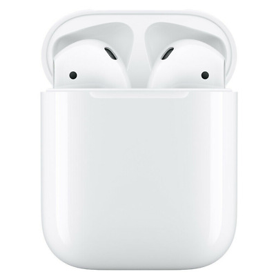 Genuine Apple Airpods White 2nd Generation MV7N2AM/A w/ Wired Charging Case
