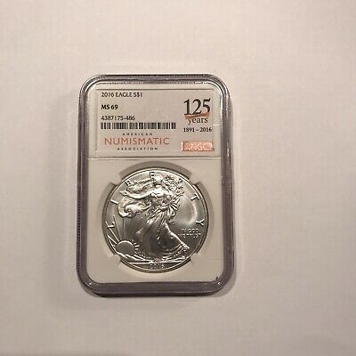 2016 American Silver eagle $1 ANA 125 Years 1891-2016 NGC MS 69