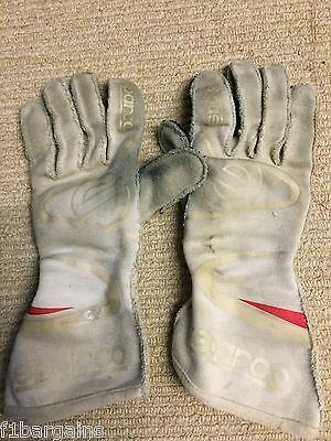 Nico Rosberg used Williams Gloves *RARE*