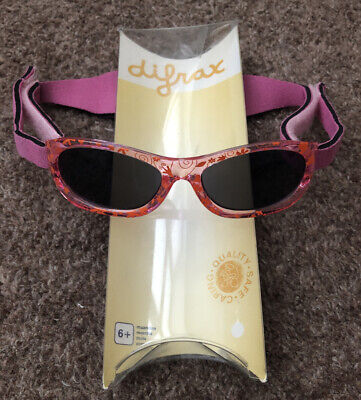 Difrax Baby Pink Sunglasses 100% Sun Protection Age 6 Months +