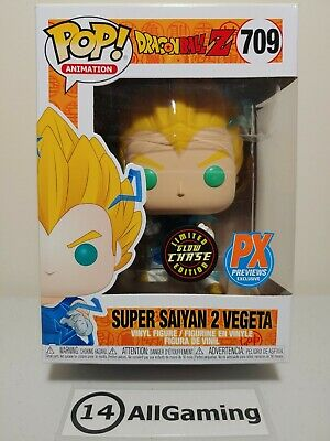 Funko POP! Animation: Dragon Ball Z Super Saiyan 2 Vegeta LIMITED GLOW CHASE 709
