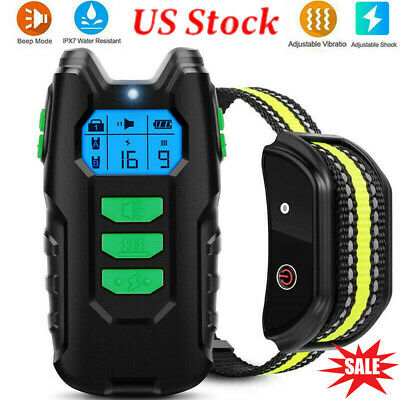 Electric LCD Dog Pet Shock Training Waterproof Remote Control Dogs E-Collar New