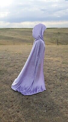 Halloween Cloak Purple Cape Wedding Costume Renaissance Festival Bridal