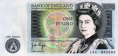 bank of england one pound, J.B.PAGE