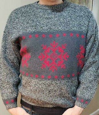 Benetton Vintage Sweater Made in Italy  Classic Hipster - Large