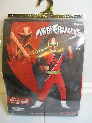 Mighty Morphin Power Rangers Red Ranger CHILD SMALL (4-6) Costume Muscle NEW