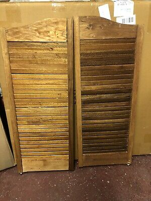 """CAFE DOOR *KNOTTY PINE* 32/""""W Saloon Swinging Pub Western Bar Choice of HINGES"""