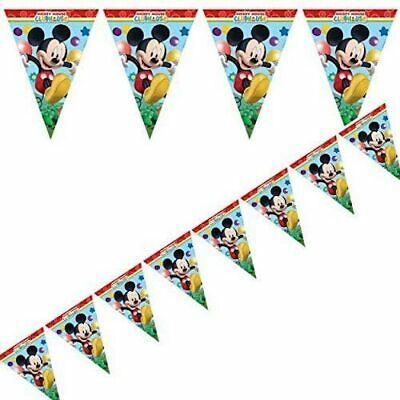 3m Disney Mickey Mouse  Clubhouse Party Pennant Banner Bunting
